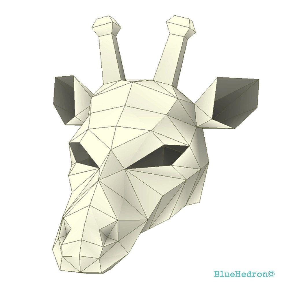 Mask Papercraft Giraffe Mask Halloween Fancy Dress Festival Papercraft Diy Awesome