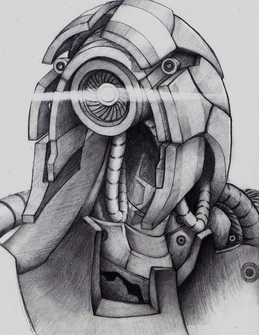Mass Effect Papercraft Legion Mass Effect Drawing Draw Pinterest