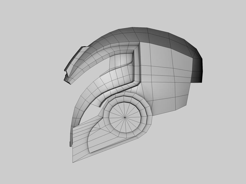 Mass Effect Papercraft Thread Mass Effect 2 Cerberus assault Helmet Pepakura File Wip