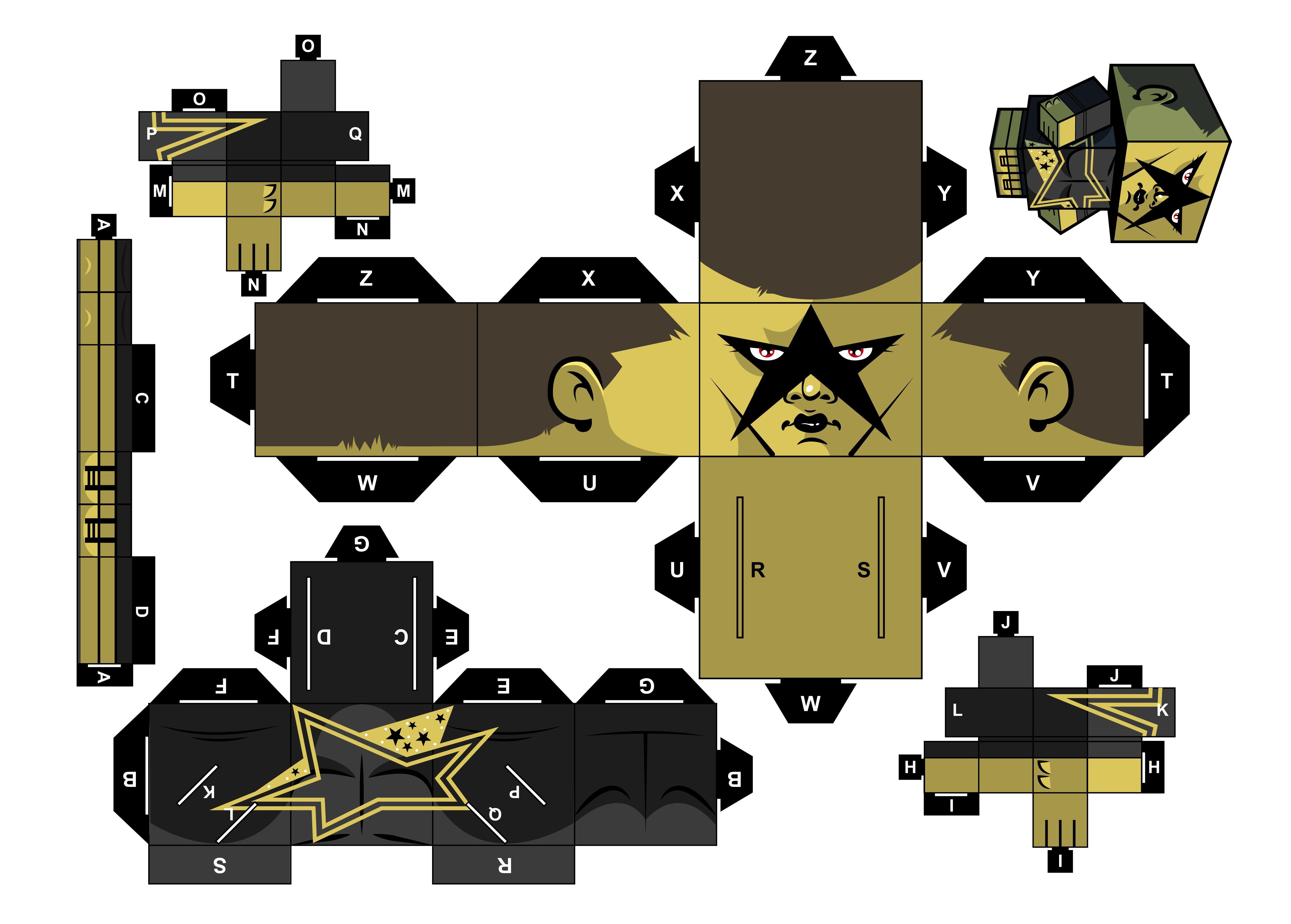 Master Chief Papercraft Stardust Papercraft Wwe Wwe Kids Pinterest