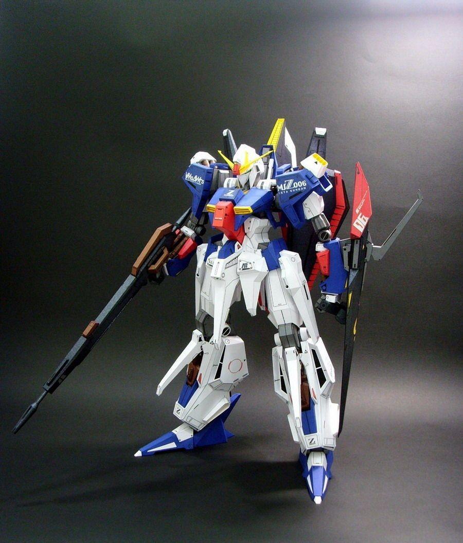 Mecha Papercraft Msz 006 Hyper Zeta Gundam Papercraft by Rarra