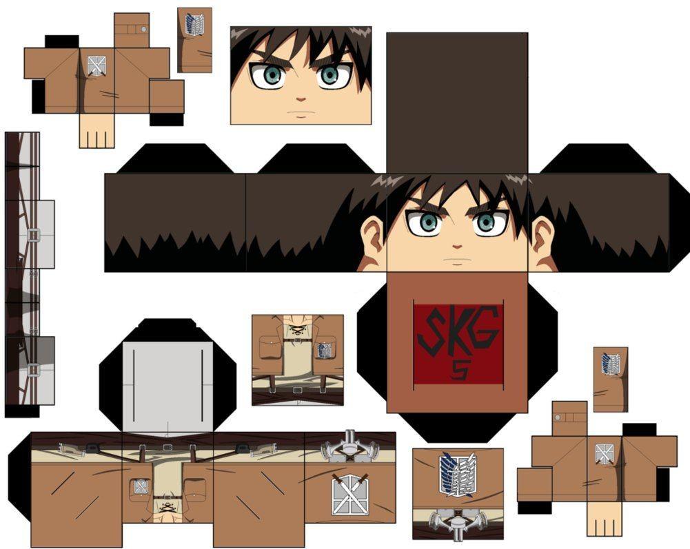 Megaman Papercraft Eren Yeager by Superkamiguru5viantart On Deviantart