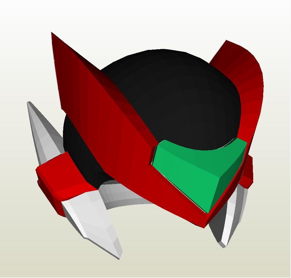 Megaman Papercraft Zero Megaman X No Helmet