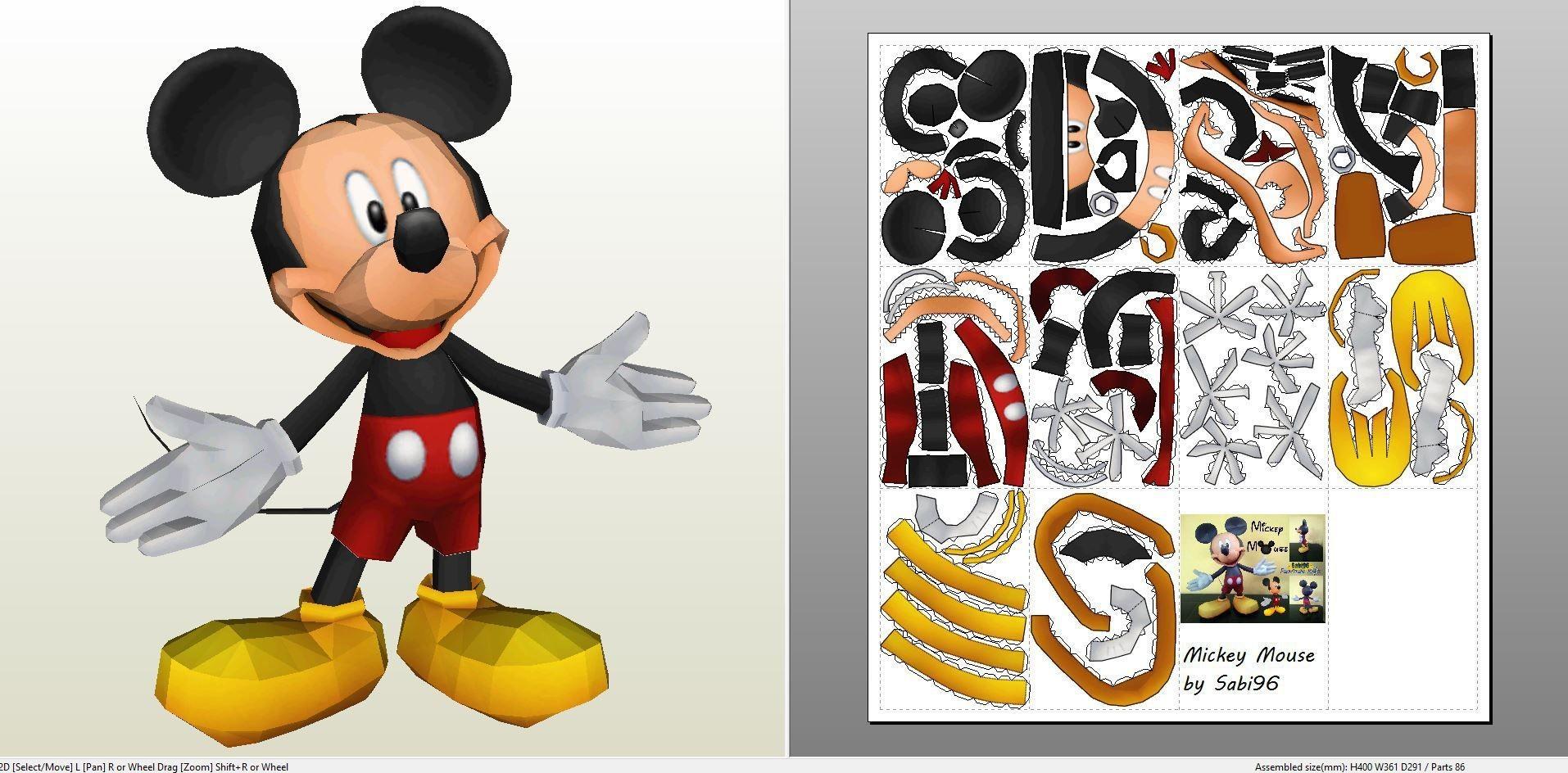 Mickey Mouse Papercraft Paperjuke Frozen Buscar Con Google Papercraft