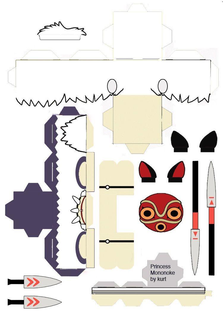 Miku Papercraft Kodama Papercraft T Papercraft Studio Ghibli and origami