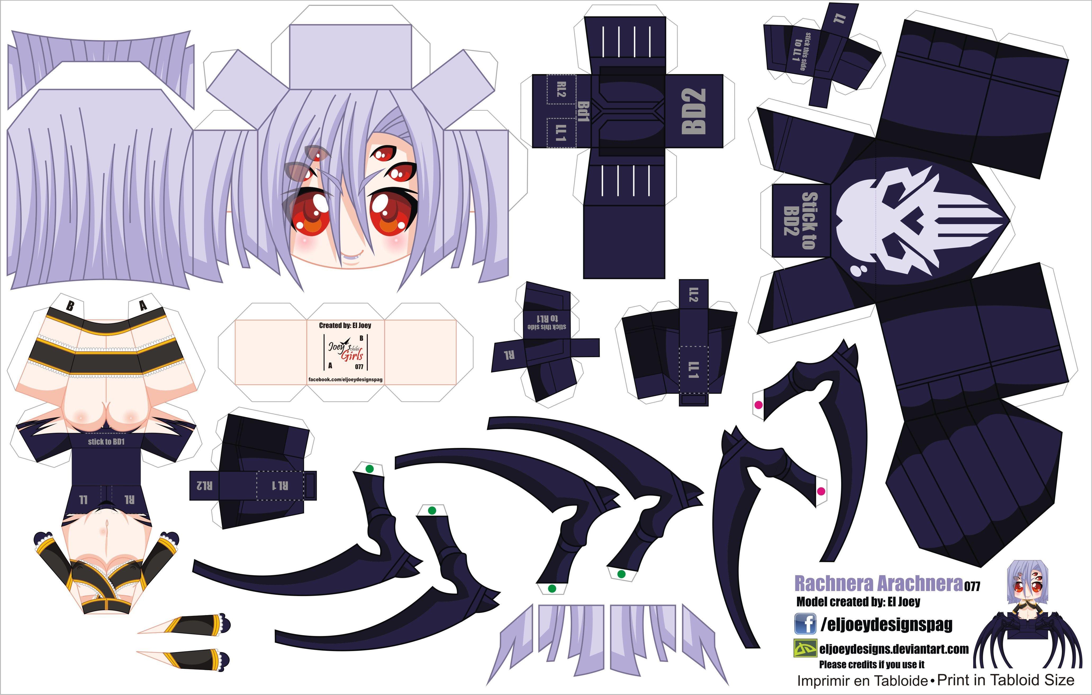 Miku Papercraft Rachnera Arachnera Jcg 077 Part 1 by Eljoeydesigns D8nsmd9