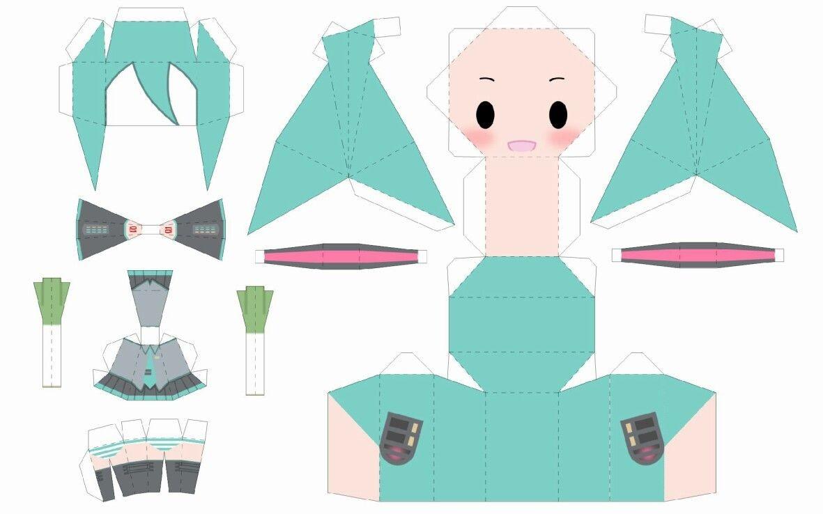 Miku Papercraft Sakura Miku Papercraft Crafts T Papercraft origami and