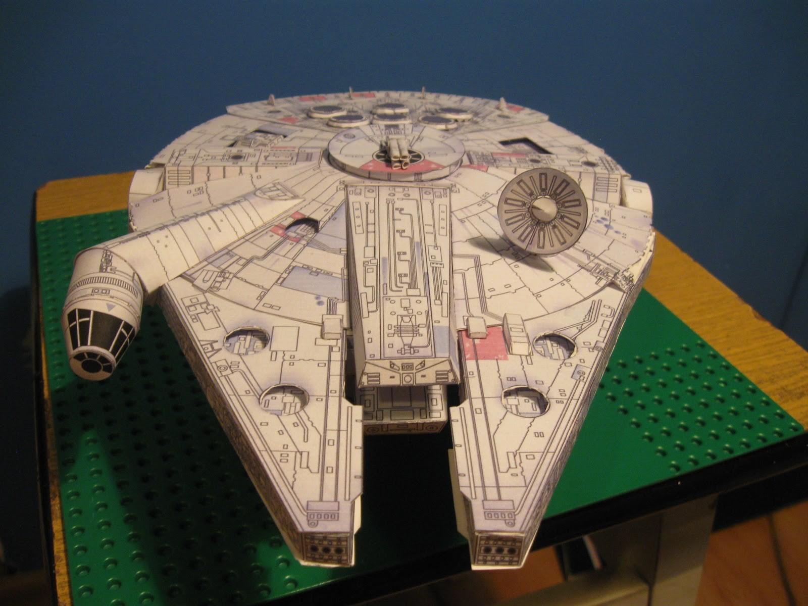 Millenium Falcon Papercraft Millenium Falcon M³j Pierwszy Poważniejszy Model Kartonowo