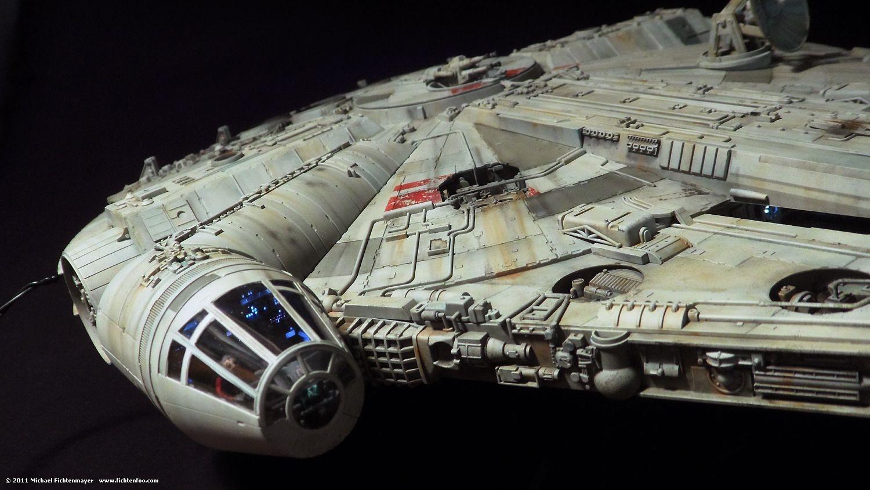 Millennium Falcon Papercraft Pleted Millennium Falcon [fine Molds 1 72 Scale]