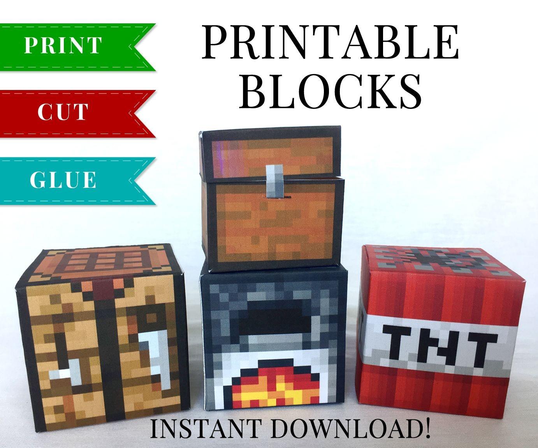 Minecraft Papercraft Bed Set 2 Minecraft Printable Papercraft Blocks