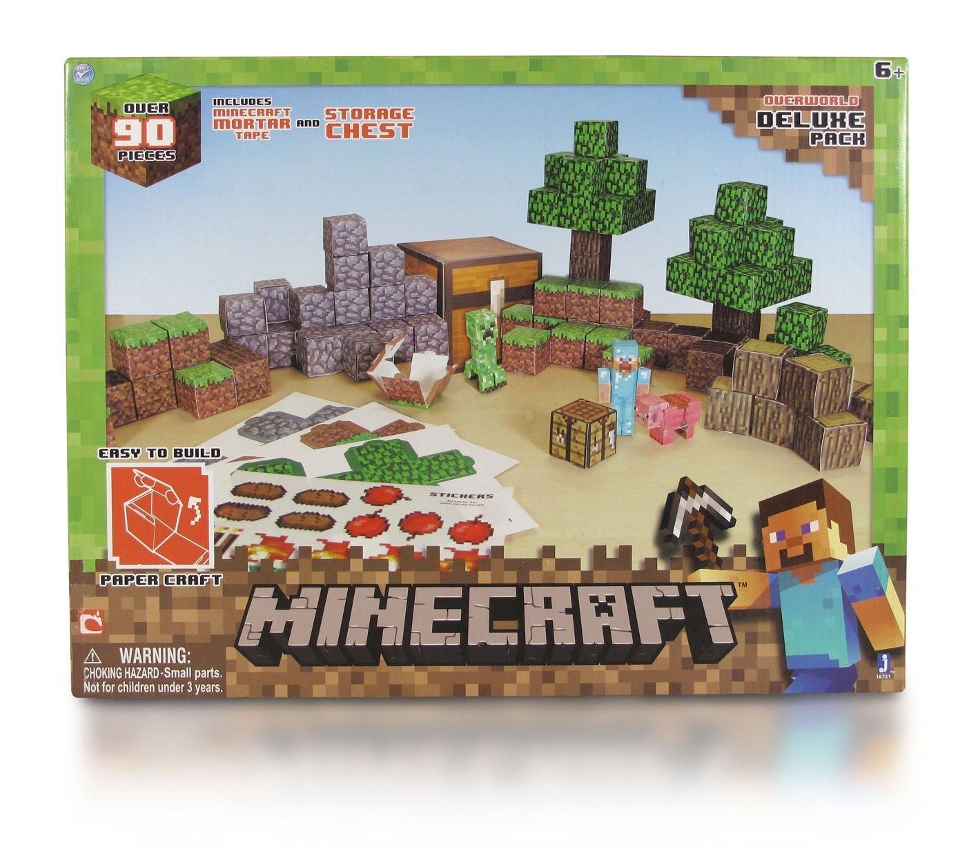 Minecraft Papercraft Deluxe Pack Minecraft Paper Craft Vyloděn Deluxe Sada Ihrackarstvi