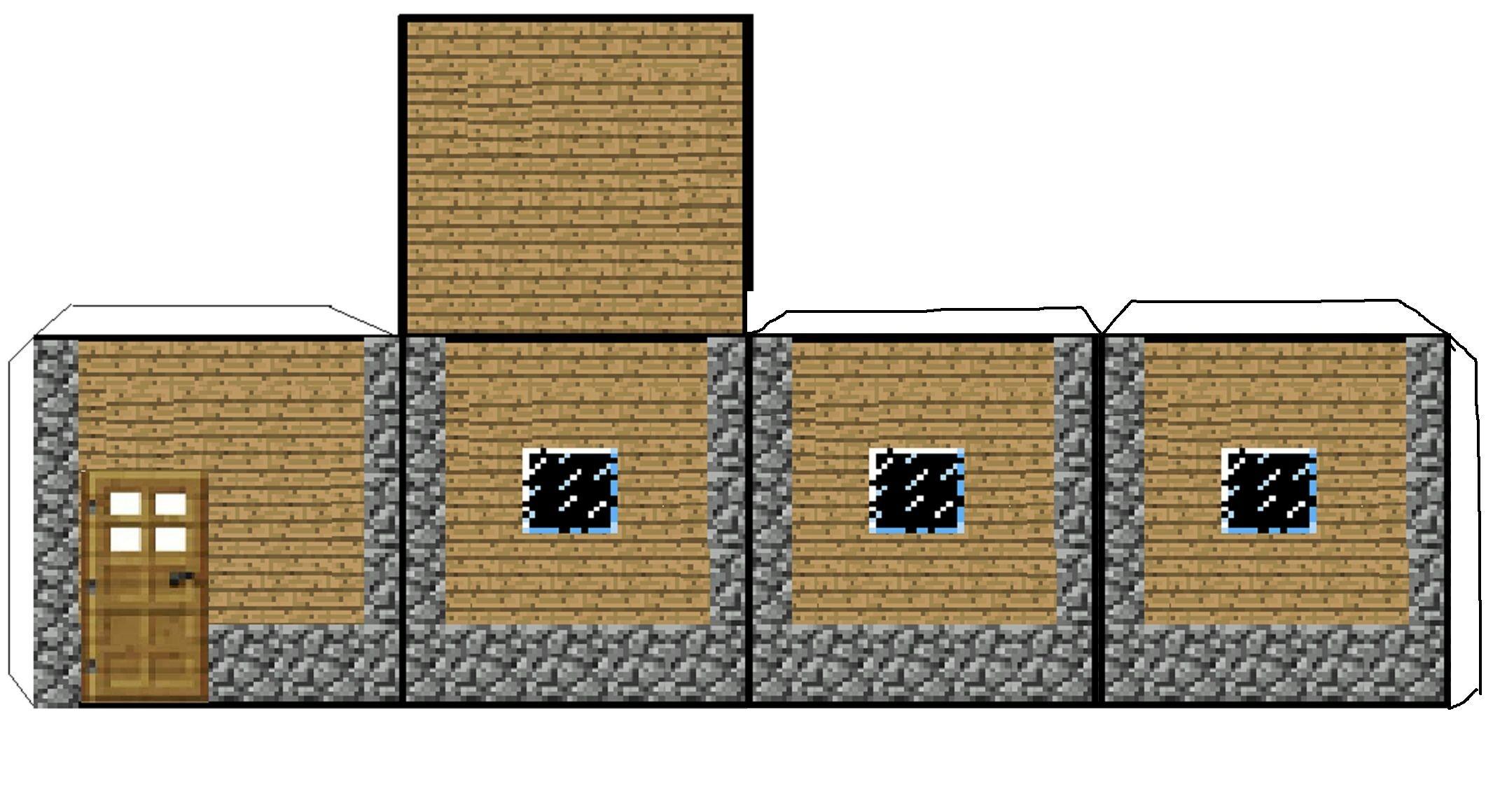 Minecraft Papercraft House Mindcraft Paper Craft Craft Decoration Ideas