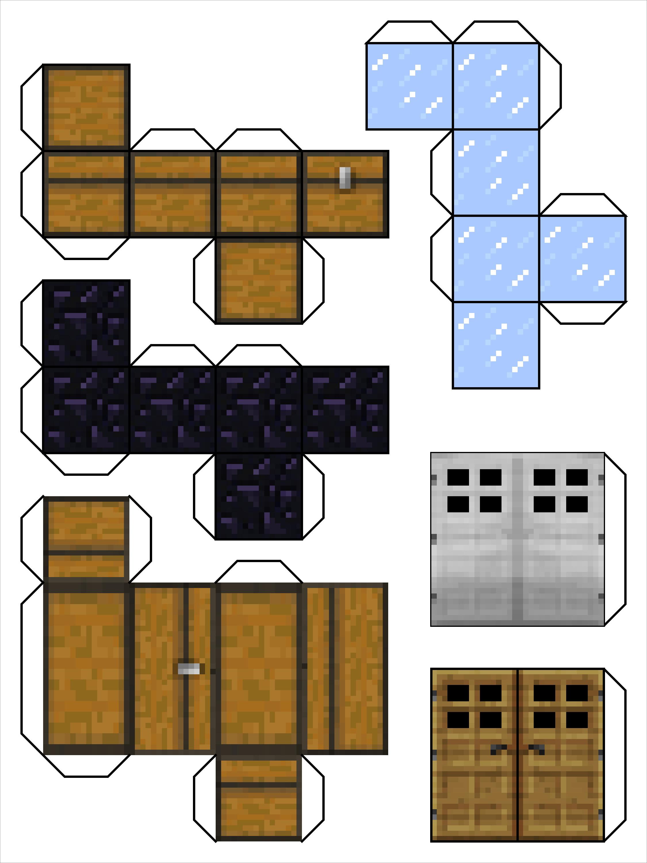 Minecraft Papercraft Models Barking Dog Minecraft Papercraft
