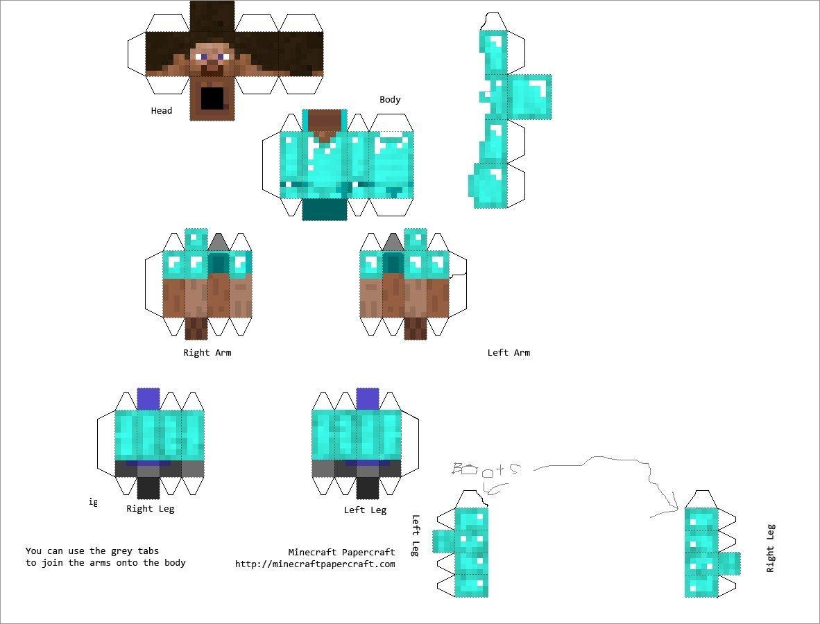 Minecraft Papercraft Models Free Download Minecraft Papercraft Model