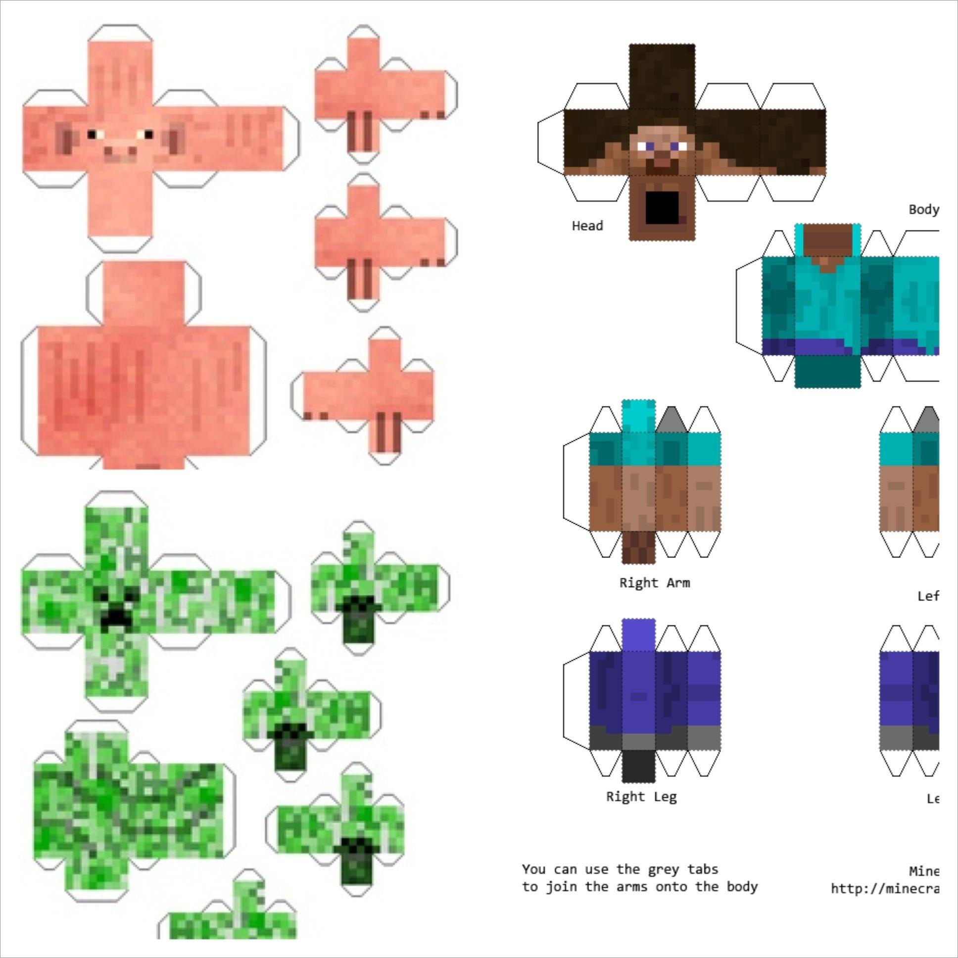 Minecraft Papercraft Models Minecraft Papercraft Models