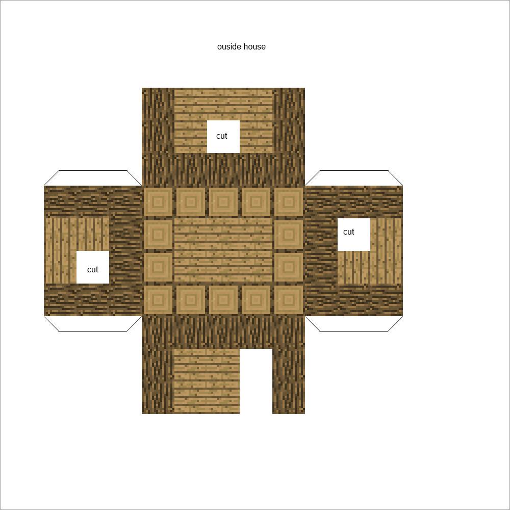 Minecraft Papercraft Models Papercraft Minecraft Mini House