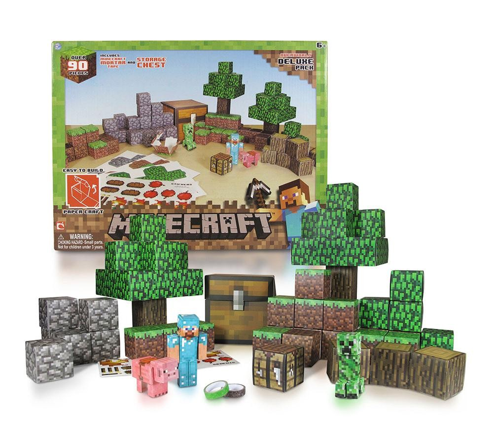 Minecraft Papercraft Overworld Deluxe Set Set Overworld Deluxe Set