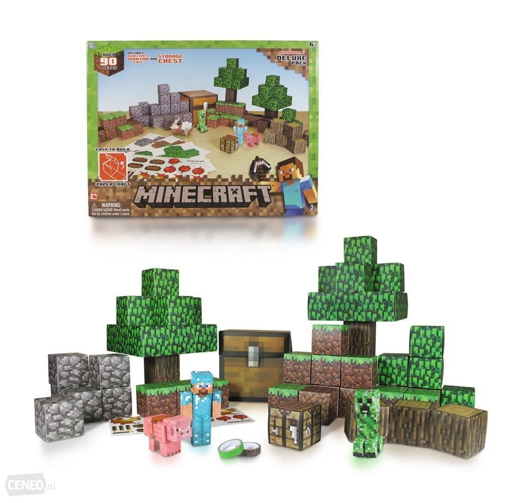 Minecraft Papercraft Overworld Set Minecraft Papercraft Deluxe Świat Ceny I Opinie Ceneo
