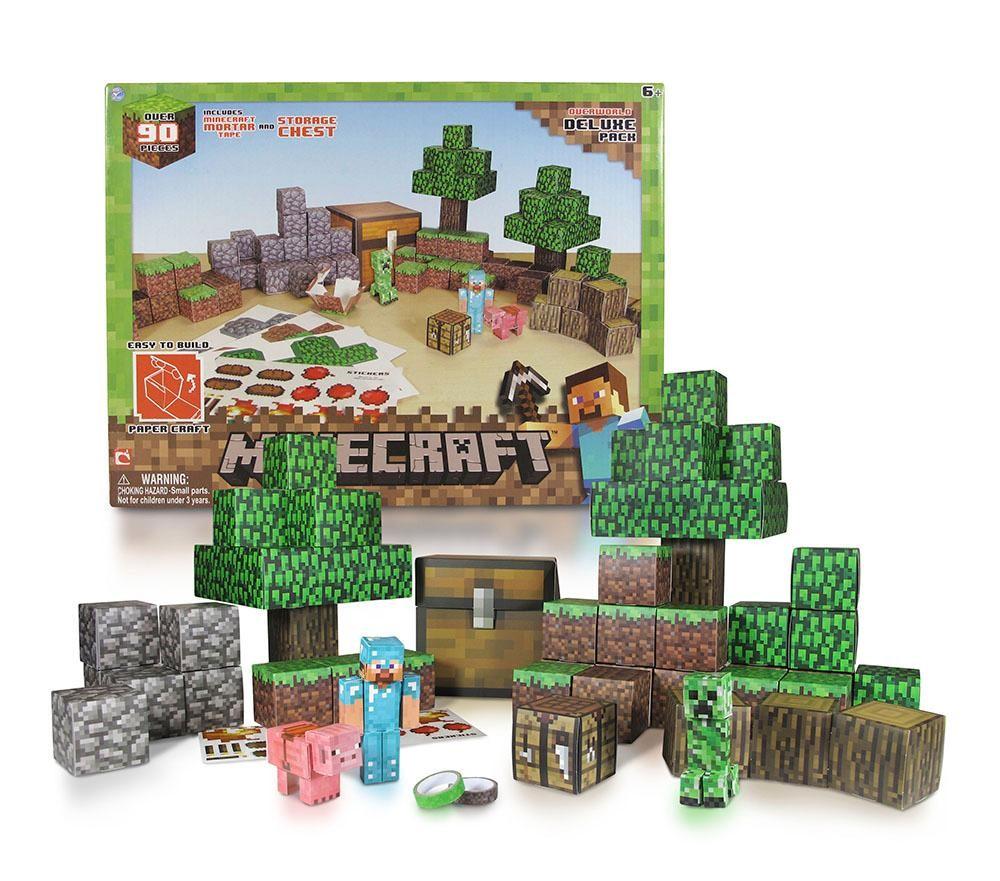 Minecraft Papercraft Overworld Set Set Overworld Deluxe Set