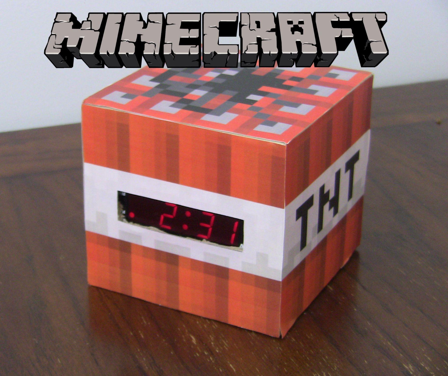 Minecraft Papercraft Sets Minecraft Tnt Clock