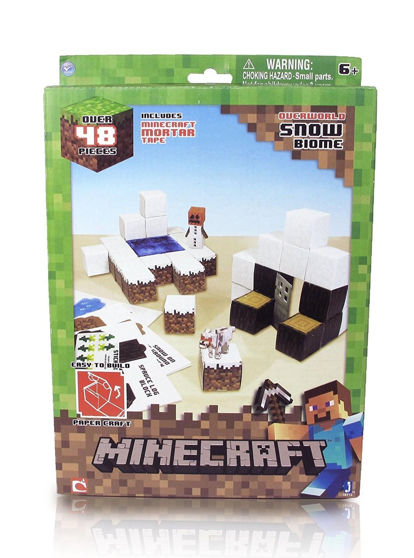 """Minecraft Papercraft Shelter Set Minecraft Papercraft ŚnieÅ Ny Świat Biom""""w 48 Elem"""