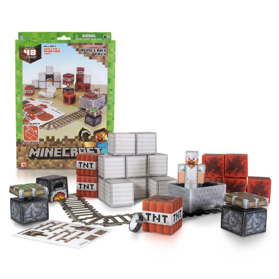 Minecraft Papercraft Shelter Set Papercraft Minecraft Figure Set Minecart Dvd Zona Shop