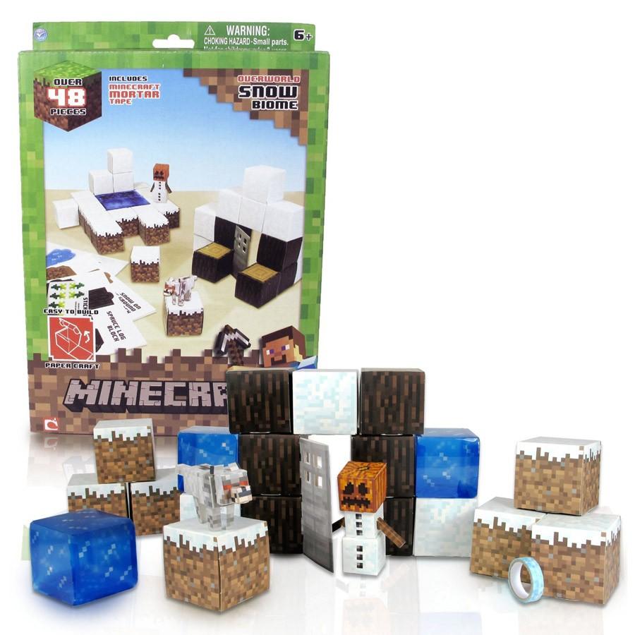 Minecraft Papercraft Shelter Set Papercraft Minecraft Figure Set Snow Dvd Zone Shop
