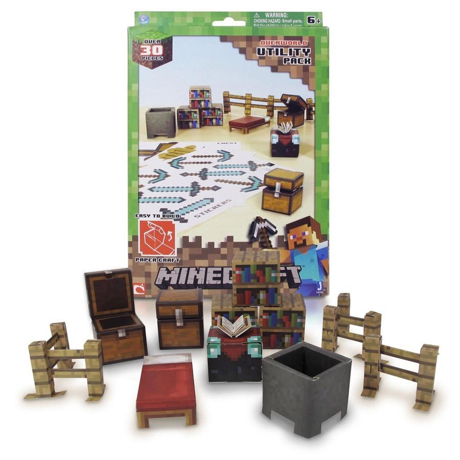 Minecraft Papercraft Shelter Set Papercraft Minecraft Figure Set Utility Pack Dvd Zona Shop