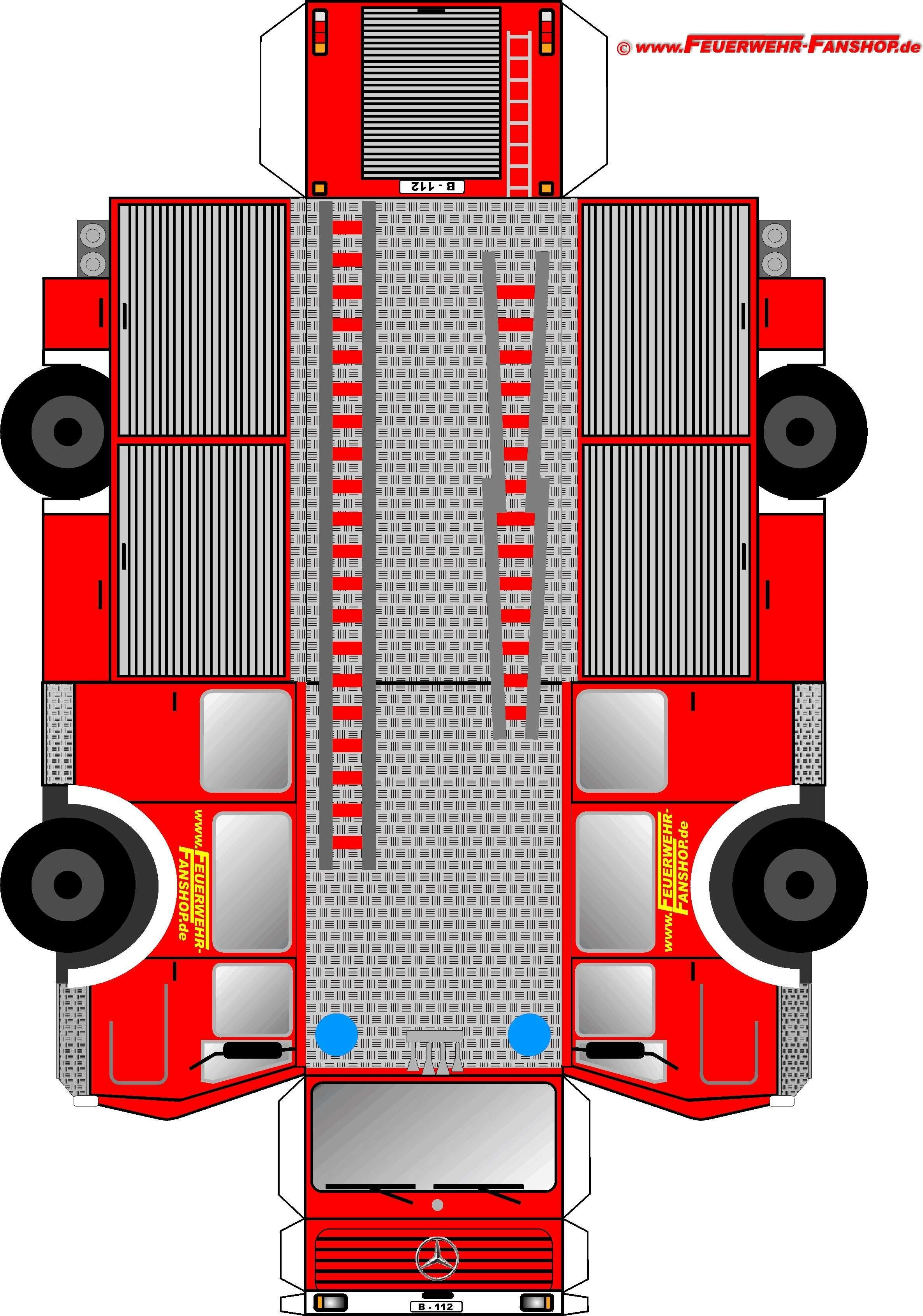 Mini Cooper Papercraft Feuerwehrauto Basteln Papr Pinterest