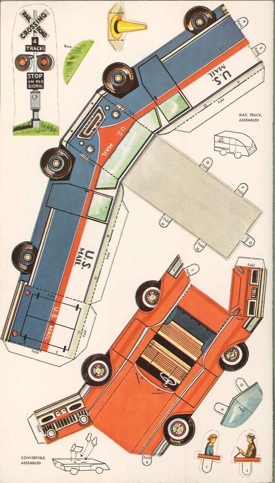 Mini Cooper Papercraft Vintage Uncut 1958 Cars & Trucks Paper Doll Punchouts org Sz Lasr