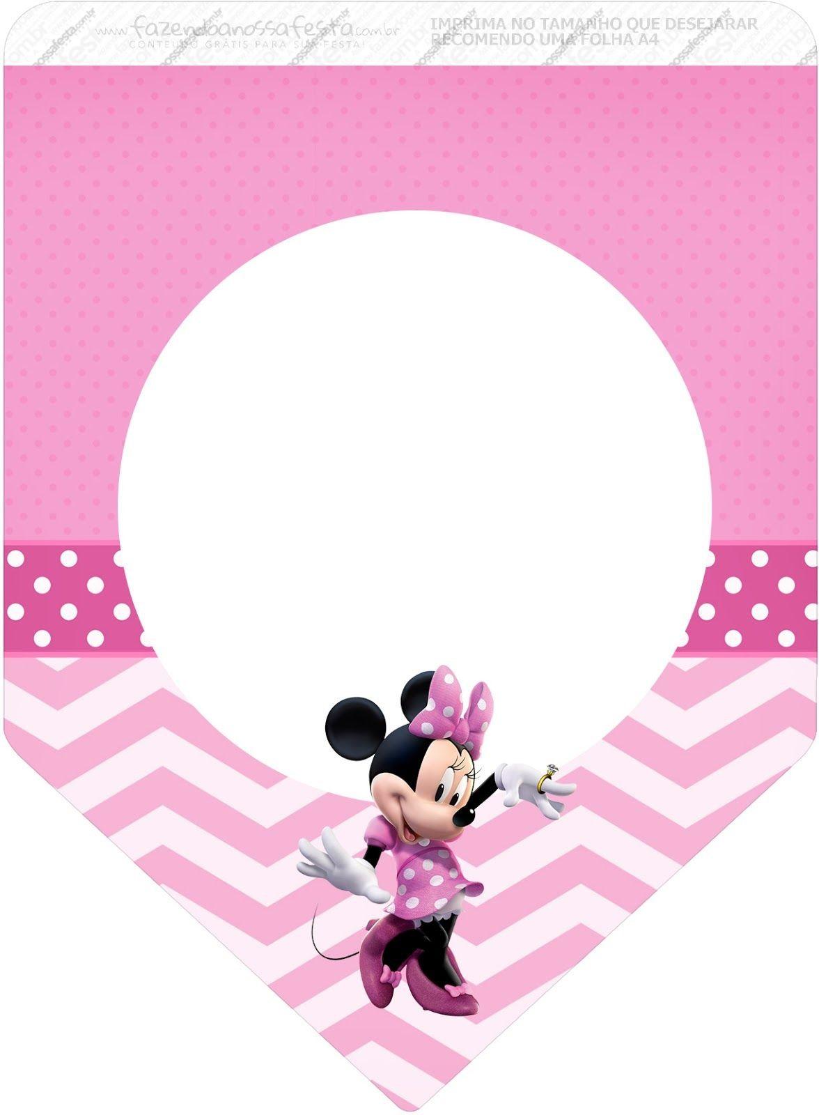 Minnie Mouse Papercraft Coqueta Minnie En Rosa Imprimibles Gratis Para Fiestas