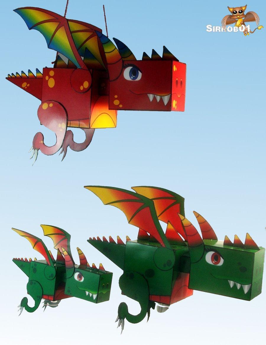 Model Papercraft Dragon Papercraft Papercraft Patterns Pinterest