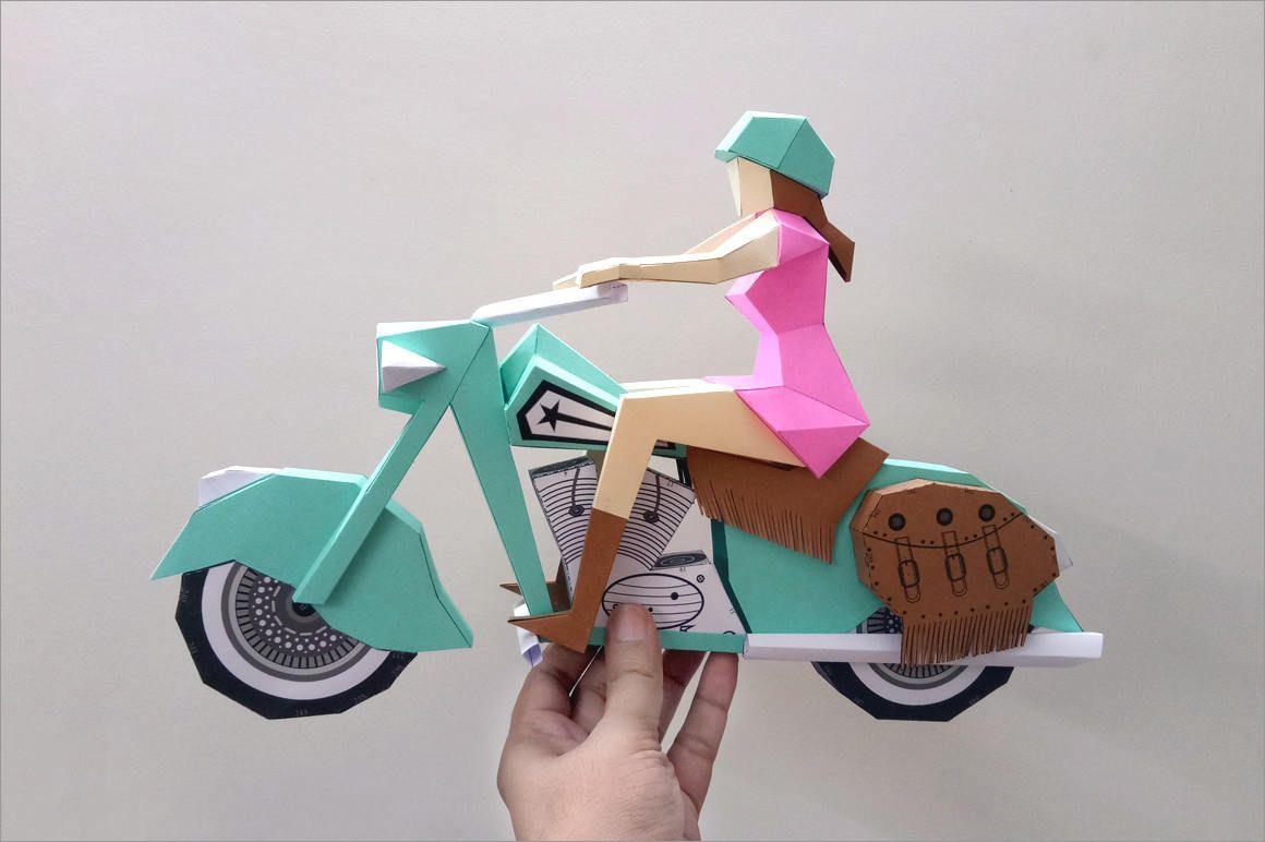 Motorcycle Papercraft 3d Motorbike Papercraft