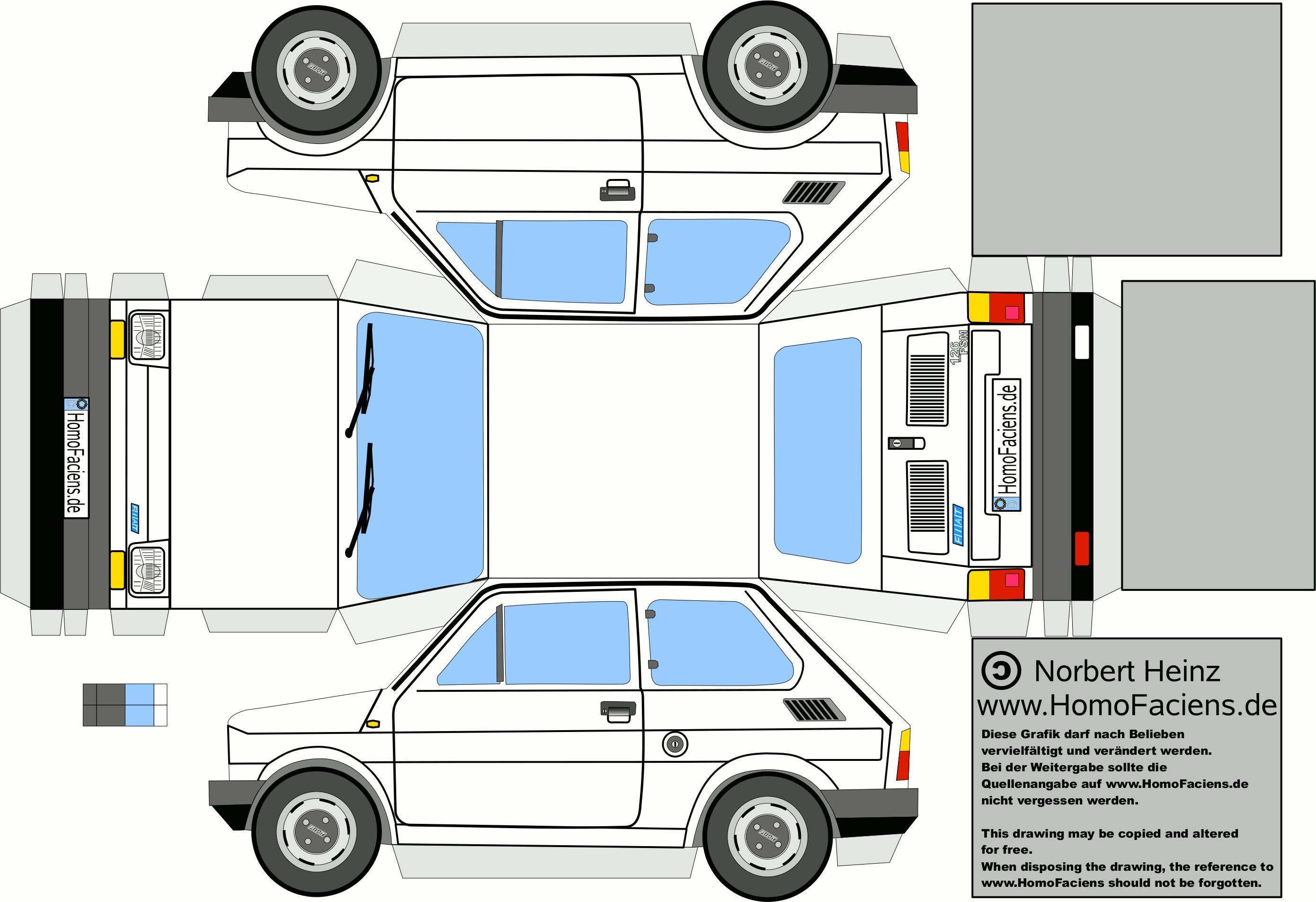 Motorcycle Papercraft Fiat 126 Papercraft Homofaciens Downloads