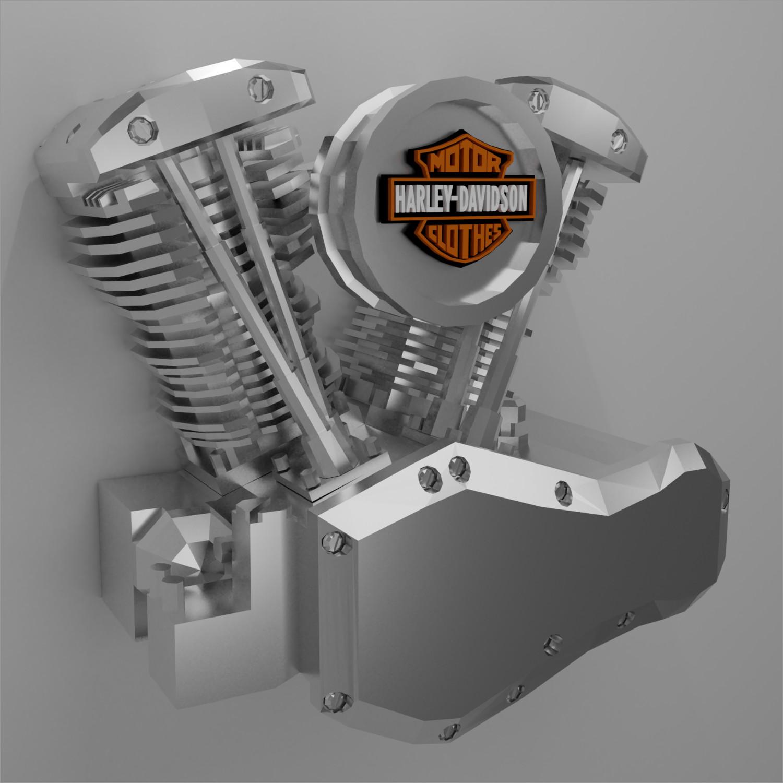 Motorcycle Papercraft Harley Davidson Motorcycle Machine Papercraft