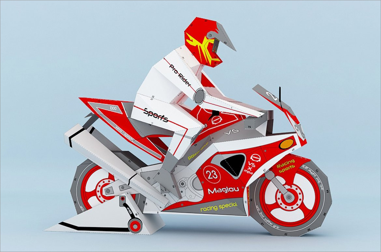 Motorcycle Papercraft Sportsbike 3d Papercraft