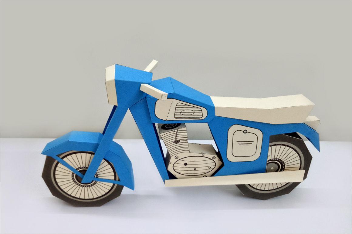 Motorcycle Papercraft Vintage Motorcycle 3d Papercraft