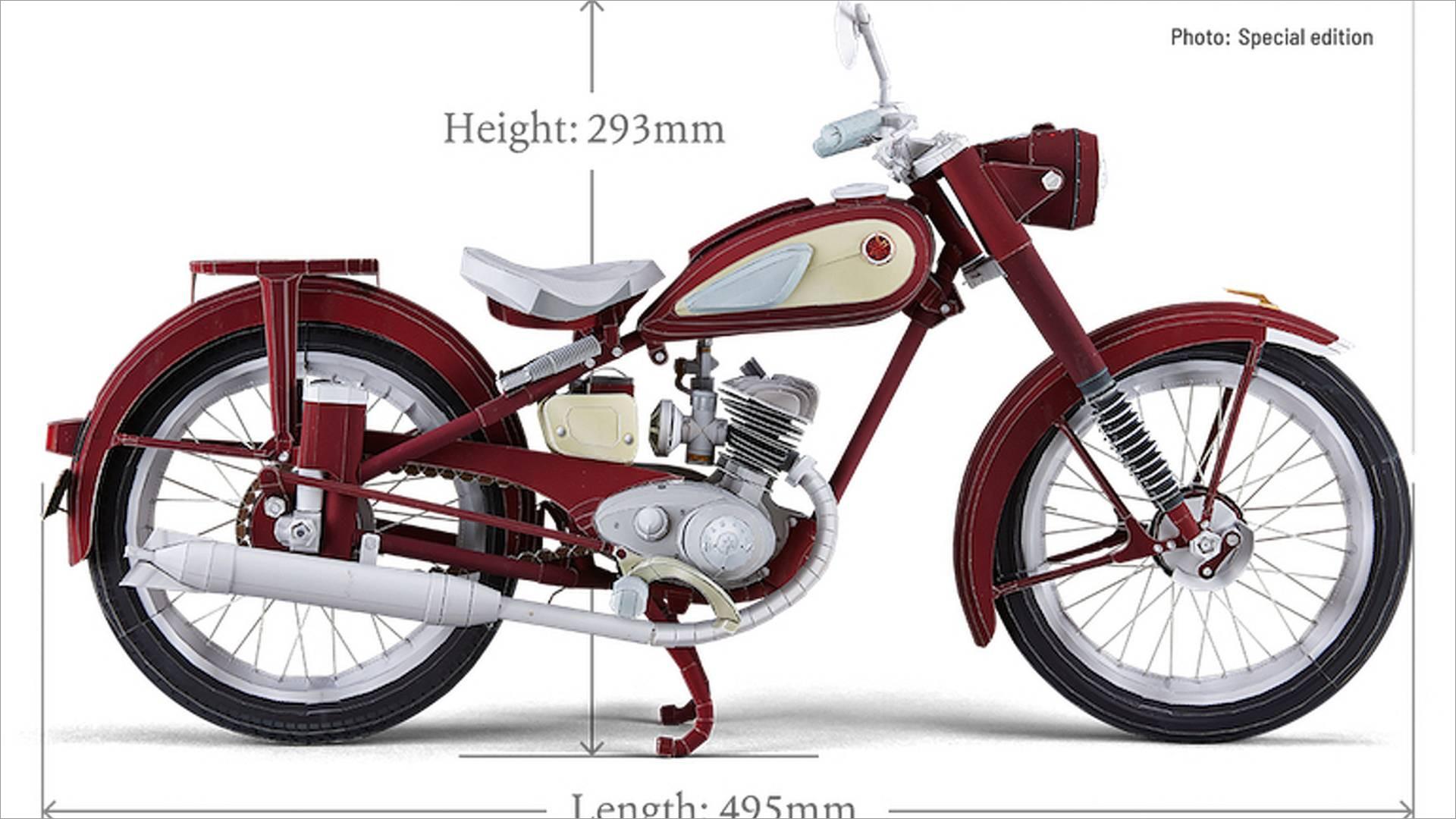 Motorcycle Papercraft Yamaha Ya 1 Model Papercraft