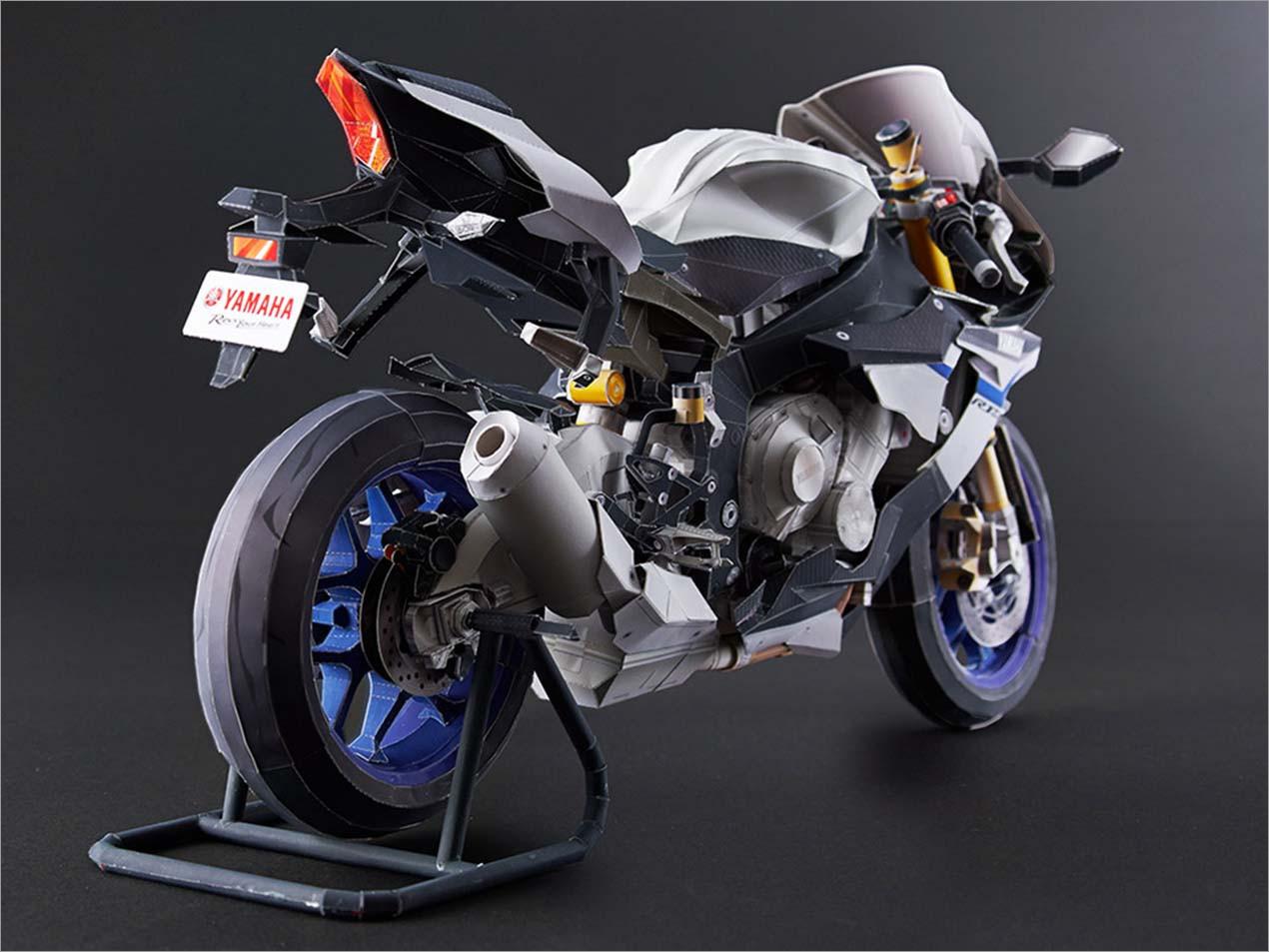 Motorcycle Papercraft Yamaha Yzf R1m 08 Papercraft