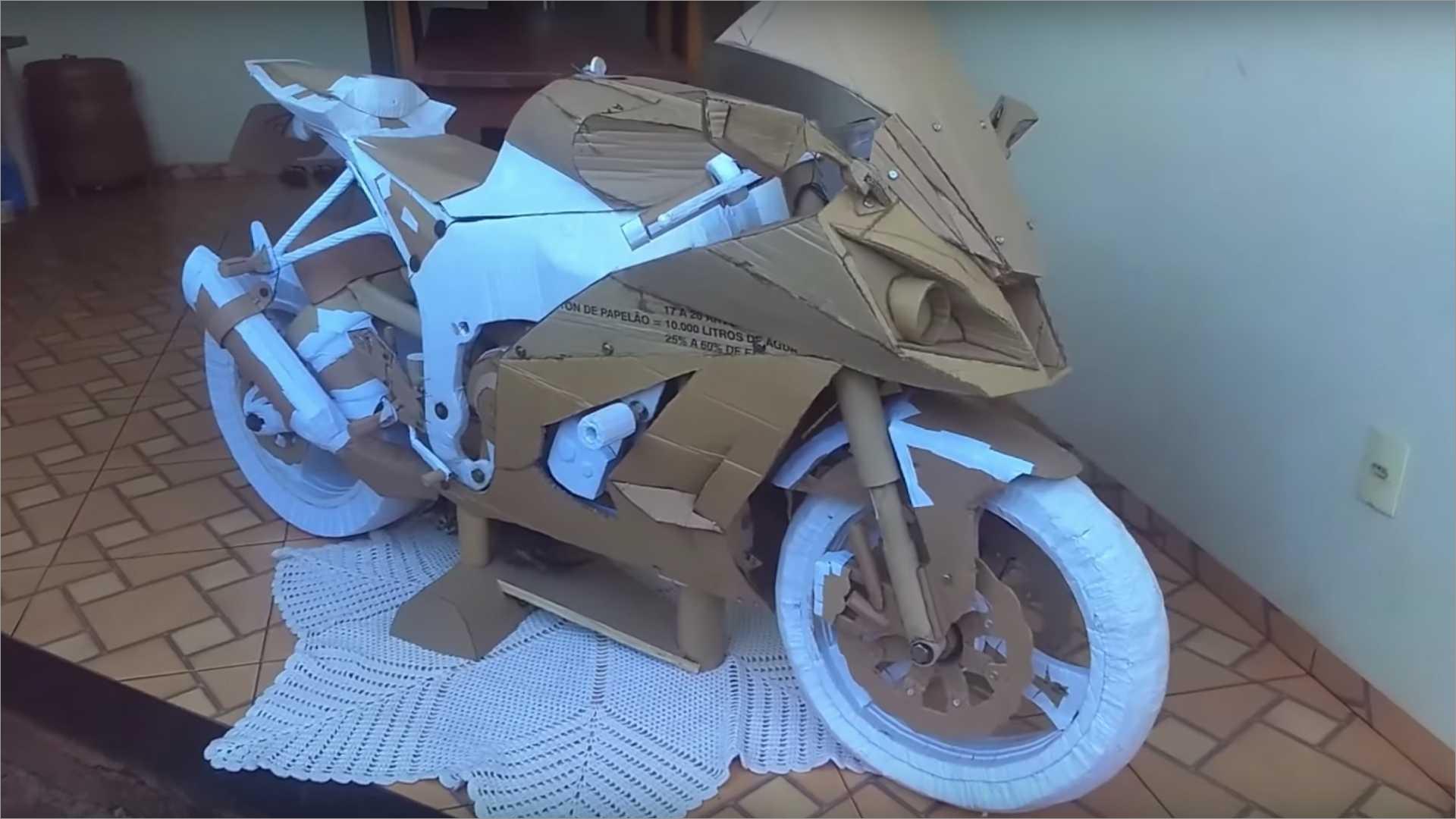 Motorcycle Papercraft Zx 10r Cardboard Papercraft