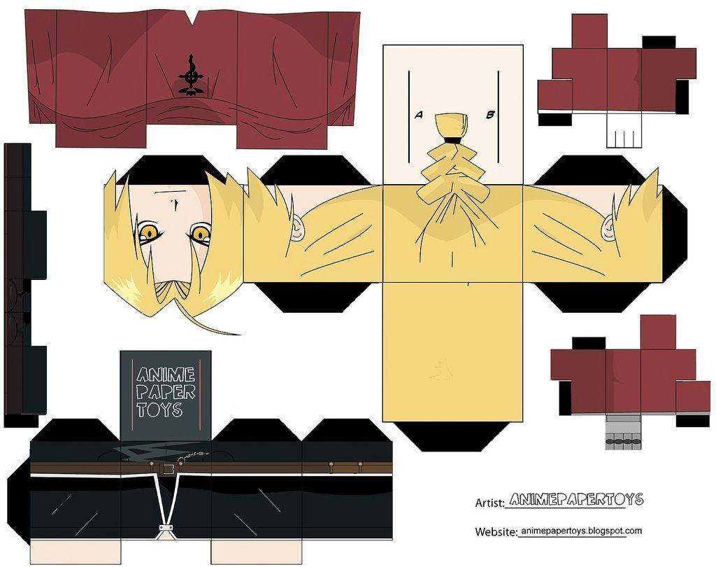 Naruto Papercraft Papercraft Fma Haz Lo Tu Misma Pinterest