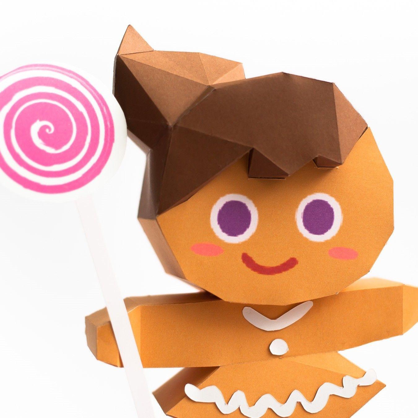 Nicky P Papercraft วิธีทำโมเดลกระดาษตุ้กตา คุกกี้สาวผู้ร่าเริง จากเกมส์คุกกี้รัน Line