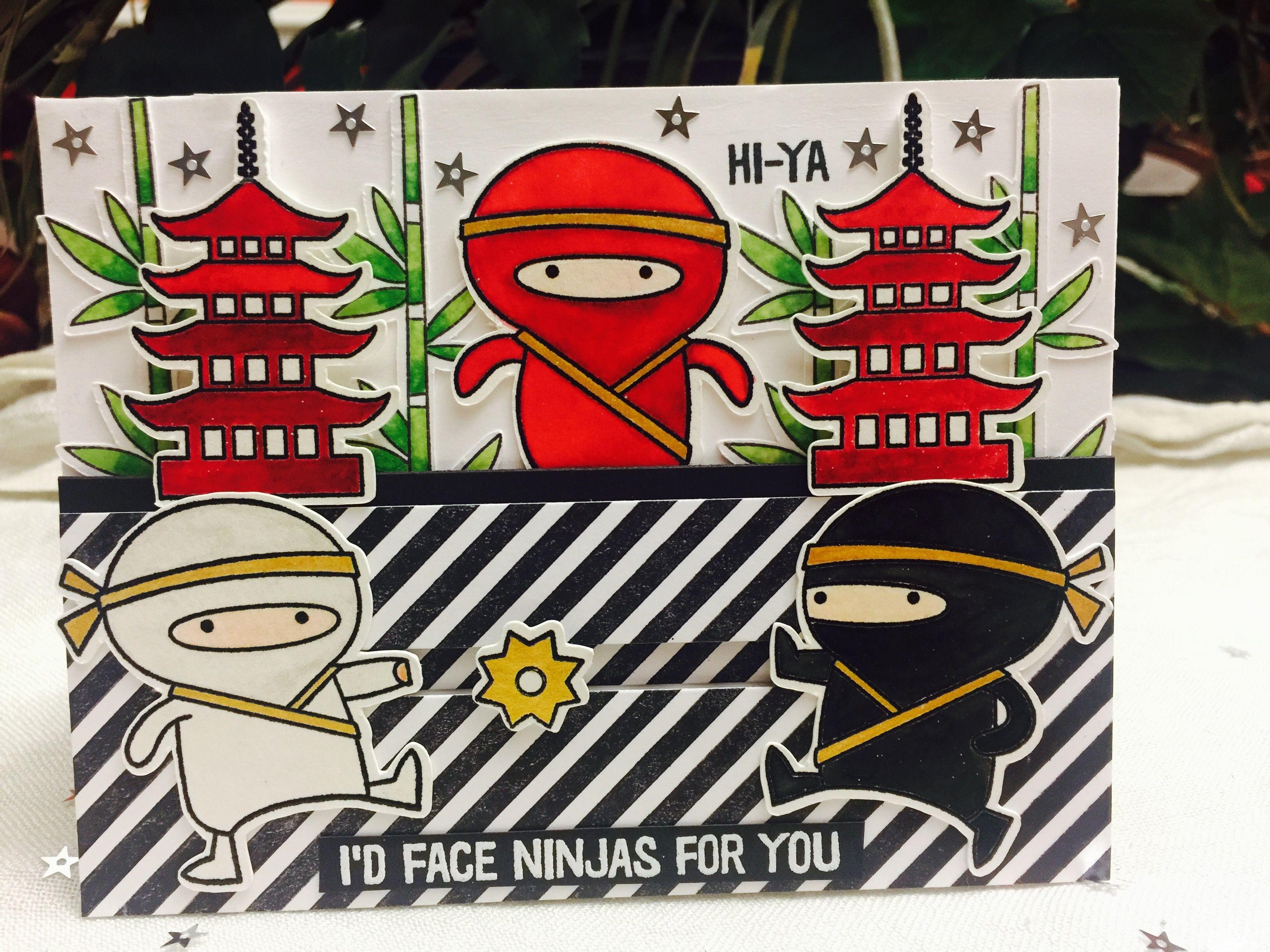 Ninja Papercraft Mft Ninja Mazing Paper Crafting Cards asia