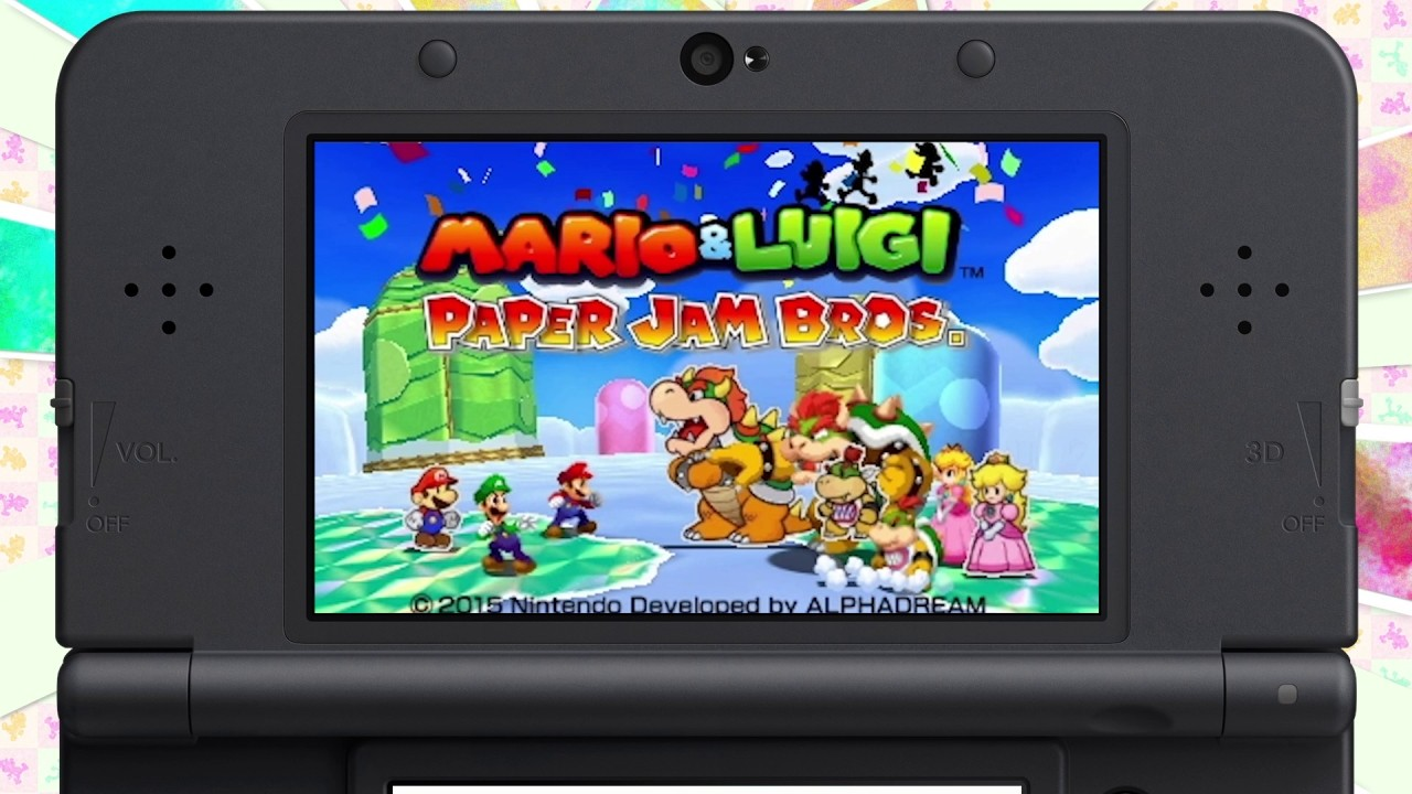 Nintendo Ds Papercraft Mario & Luigi Paper Jam Bros Nintendo 3ds Spiele