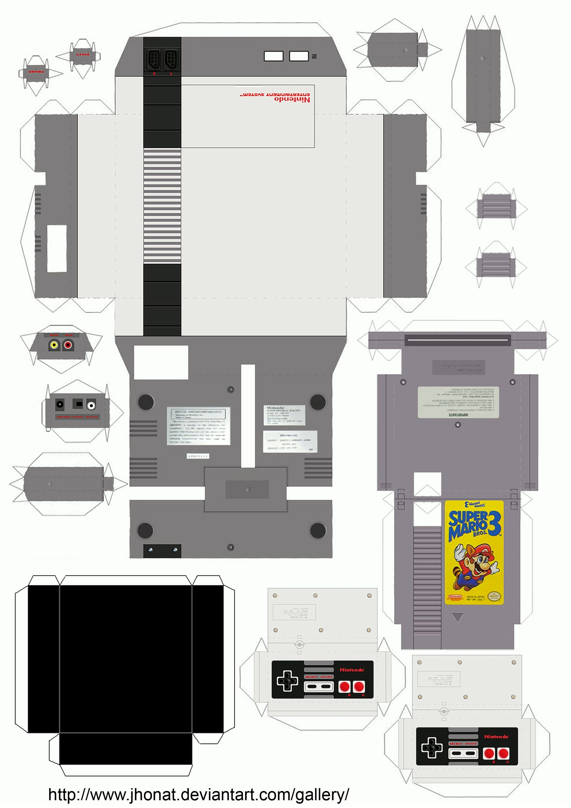 Nintendo Ds Papercraft Nes Papercraft by Jhonat D2sbr30 1 984—2 806 Pixels