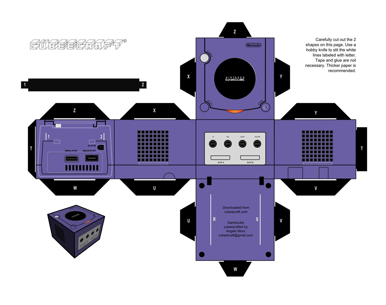 Nintendo Papercraft Cubeecrafts De Consolas Antiguas Nintendo Pinterest