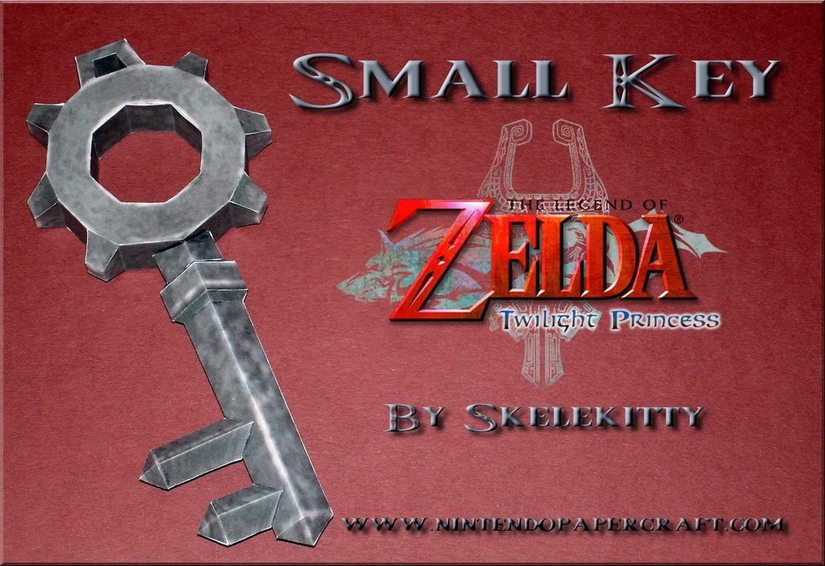 Nintendo Papercraft Twilight Princess Small Dungeon Key