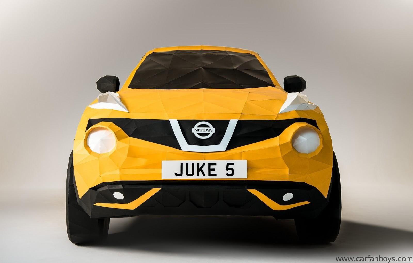 Nissan Papercraft Nissan origami Replica Juke Carfanboys