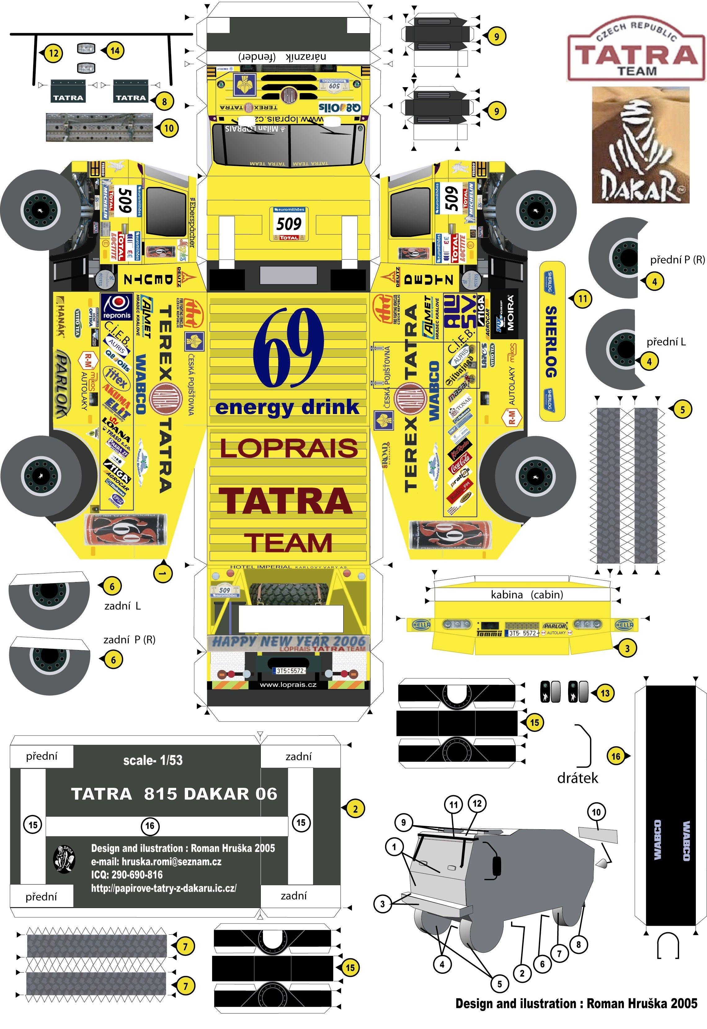 Nissan Papercraft Tatra 2006 Loprais Hobby Papercraft Pinterest