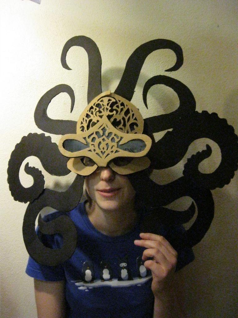Octopus Papercraft Diy Octopus Mask Diy Cardboard Diy Crafts